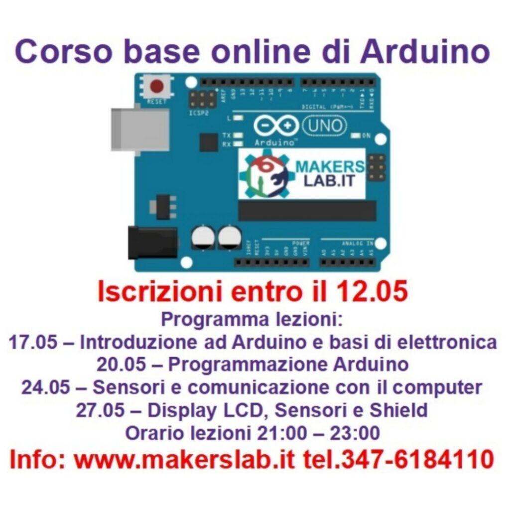 Corso Base Arduino Maggio 2021